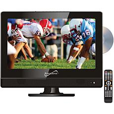 """Supersonic 13.3"""" 720p Widescreen LED HDTV DVD Combo, AC/DC for RV/Boat"""