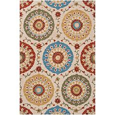 Surya Centennial Ash Gray Transitional Area Rug 5' x 8'