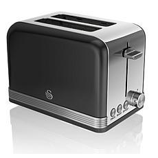 Swan Retro 2 Slice Toaster - Black