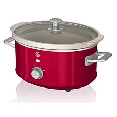 Swan Retro Slow Cooker 3.5 Liters - Red
