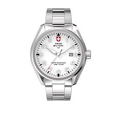 "Swiss Military by Charmex Men's ""Pilot"" Stainless Steel Bracelet Watch"
