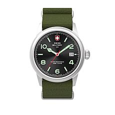 "Swiss Military by Charmex Men's ""Vintage"" Green Nylon Strap Watch"