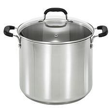 T-fal C9986364 12-Qt. Stainless Steel Stock Pot