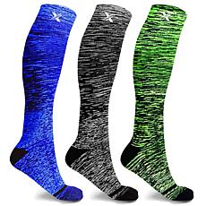 Tagco Space Dye Knitted Compression Socks 3-Pair Pack
