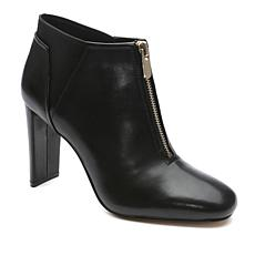 Tahari Gally Leather Zip-Front Shootie