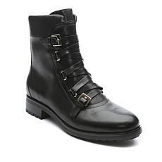 Tahari Jude Leather Lace-Up Buckle Boot