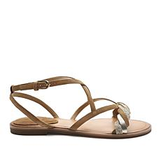 Tahari Passage Strappy Leather Flat Sandal