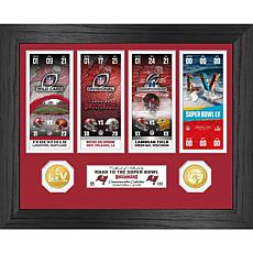 Tampa Bay Buccaneers Road to Super Bowl 55 Coin Ticket Photo Mint