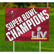 "Tampa Bay Buccaneers Super Bowl Champs 18"" x 24"" Yard Sign"