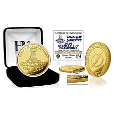 Tampa Bay Lightning 2020 Stanley Cup Champions Gold Mint Coin