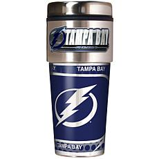Tampa Bay Lightning Travel Tumbler w/ Metallic Graphics and Team Logo