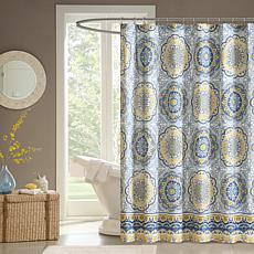 "Tangiers 100% Polyester Shower Curtain - Blue/72"" x 72"""