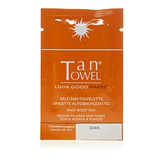 TanTowel® Half Body Dark Self Tan Towelette