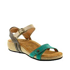 "Taos Footwear ""Sadie"" Leather 2-Band Wedge Sandal"