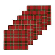Tartan Hardboard Placemat Set of 6