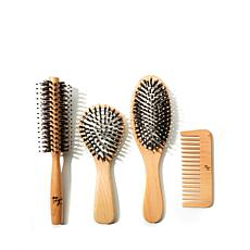 Taya 4-piece Wooden Brush Set - Small