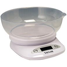 Taylor 4.4-lb Digital Kitchen Scale with Bowl