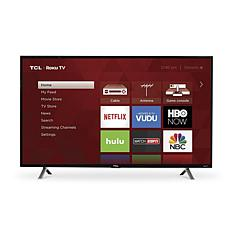 "TCL 49"" 3-Series FHD LED Roku Smart TV with HDMI Cord, 2-Year Warranty"
