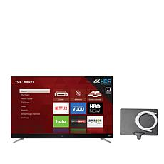 "TCL 55"" 4K Roku Smart TV w/2-Year Warranty and Antenna"