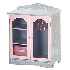 "Teamson Kids Olivia's Little World Polka Dots Princess 18"" Doll Closet"