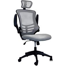 Techni Mobili High-Back Mesh Office Chair with Flip-Up Arms