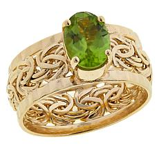Technibond® 1.3ct Peridot Byzantine Band Ring