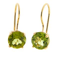 Technibond® 1.5ctw Round Peridot Drop Earrings