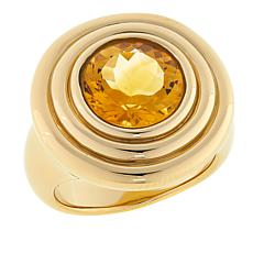 Technibond® 2.9ct Round Citrine Disc Ring