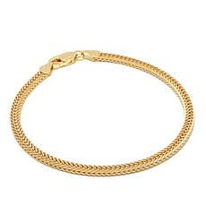 "Technibond® 3.1mm Two-Sided Foxtail Chain 7"" Bracelet"