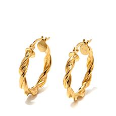 "Technibond® 3/4"" Twisted Hoop Earrings"