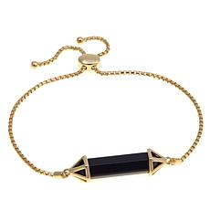 Technibond® Black Agate Prism Adjustable Bracelet