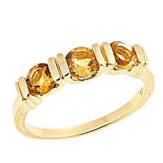 Technibond® Citrine 3-Stone Band Ring