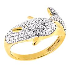 Technibond® Diamond-Accented Dolphin Ring
