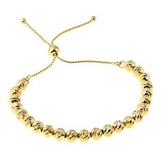 Technibond® Diamond-Cut Bead Adjustable Bracelet - Yellow