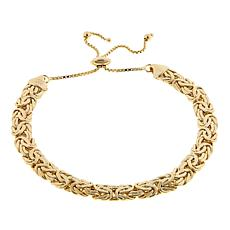 Technibond® Flat Byzantine Adjustable Bracelet - Yellow
