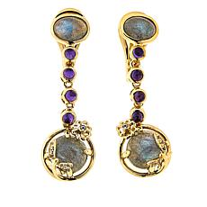Technibond® Labradorite and Multigem Drop Earrings