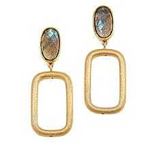 Technibond® Labradorite Geometric Drop Earrings