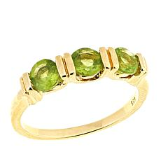 Technibond® Peridot 3-Stone Band Ring