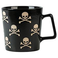 Ten Strawberry Street Skull & Crossbones 20oz. Wax Resist Mug 4-Pack