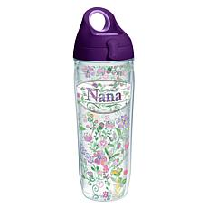 Tervis Hallmark Nana Floral 24 oz. Water Bottle with Li