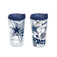 Tervis NFL 16 oz All Over and Genuine Tumbler Set - Dallas Cowboys