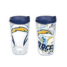 Tervis NFL 16oz All Over and Genuine Tumbler Set -Los Angeles Chargers