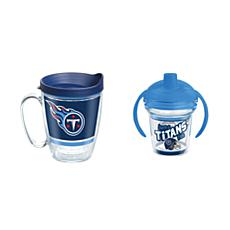 Tervis NFL Tennessee Titans Legend Coffee Mug & Born A Fan Sippy Cup