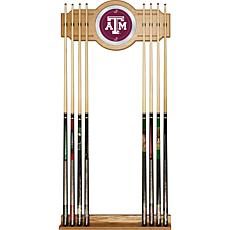 Texas A&M University 2 piece Wood and Mirror Wall Cue R