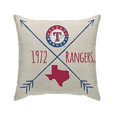 "Texas Rangers 18""X18"" Duck Cloth  Décor Pillow"