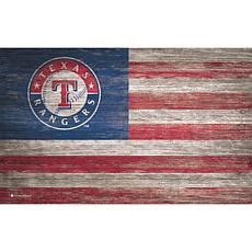 Texas Rangers Distressed Flag 11x19