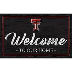 "Texas Tech University Team Color Welcome Sign - 11x19"""