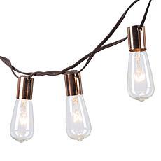 The Gerson Co. 15' Electric Patio Light String Metallic Base ST40Bulbs
