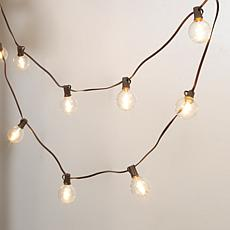The Gerson Co. 15-Foot Solar Patio Light String with G50 Bulbs