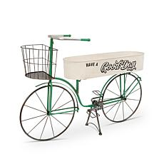 """The Gerson Company 37.2""""L Metal Antique Garden Bicycle Planter"""